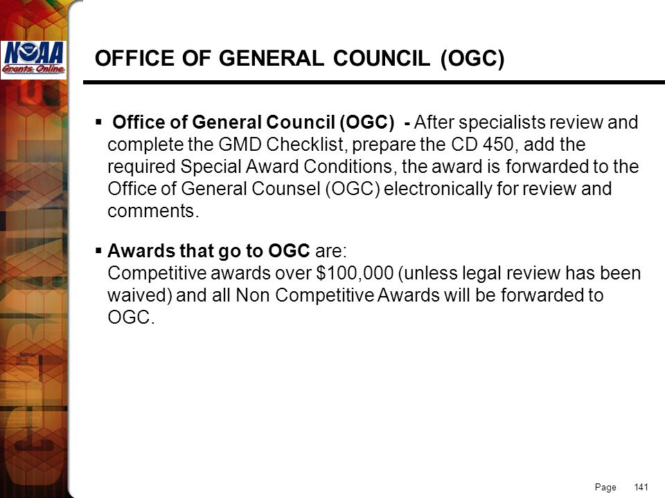 OFFICE OF GENERAL COUNCIL (OGC)