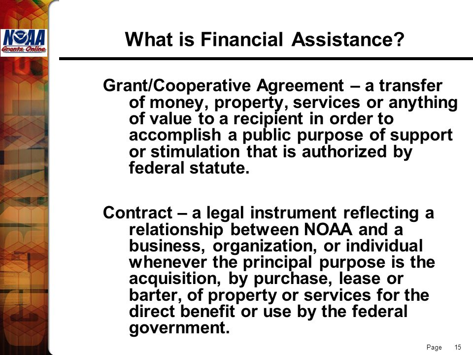 What is Financial Assistance