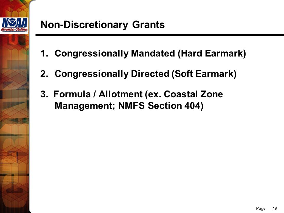 Non-Discretionary Grants