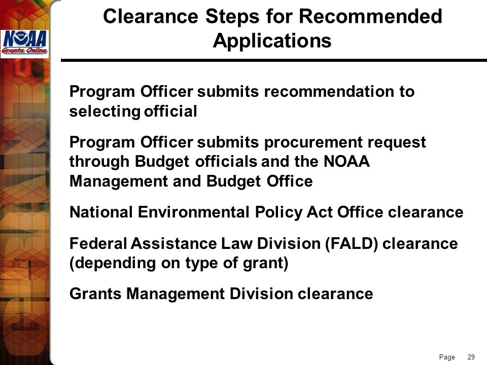 Clearance Steps for Recommended Applications