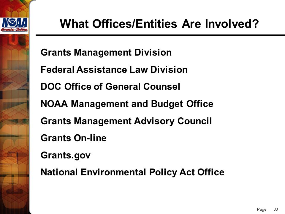 What Offices/Entities Are Involved