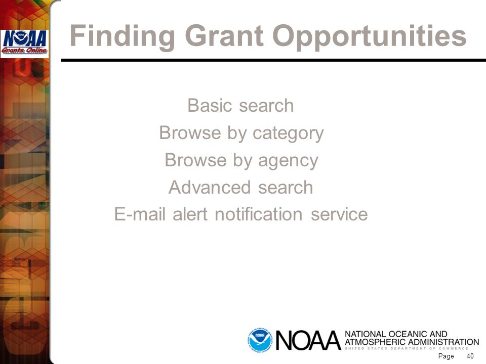 Finding Grant Opportunities