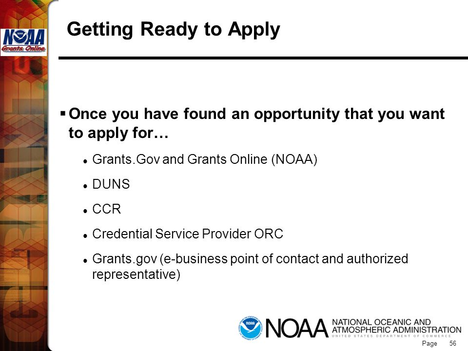 Grants Online Getting Ready to Apply