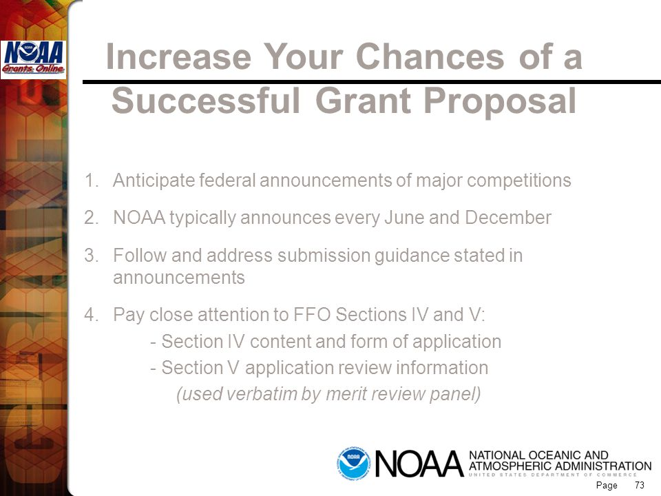 Increase Your Chances of a Successful Grant Proposal