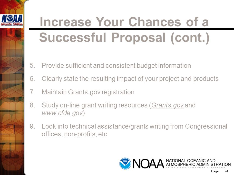 Increase Your Chances of a Successful Proposal (cont.)