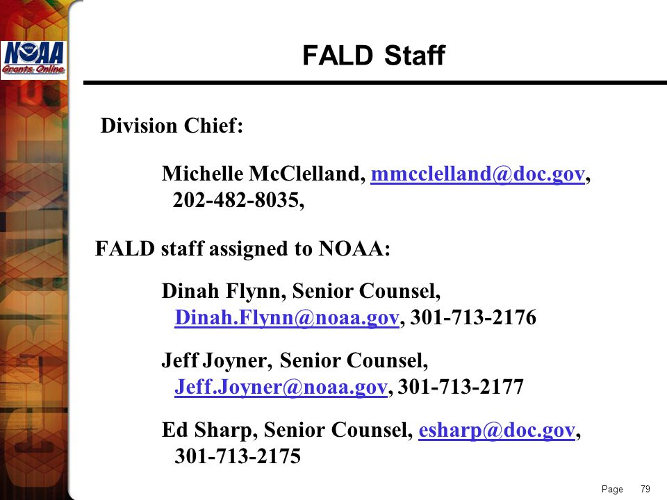 FALD Staff Division Chief: