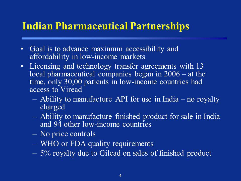 Indian Pharmaceutical Partnerships