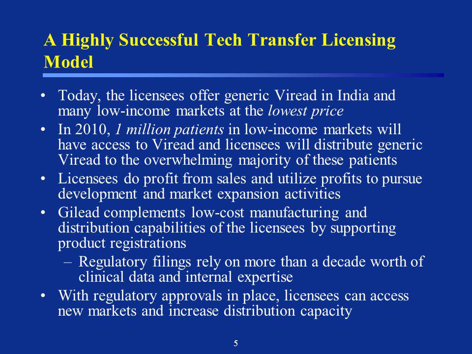 A Highly Successful Tech Transfer Licensing Model