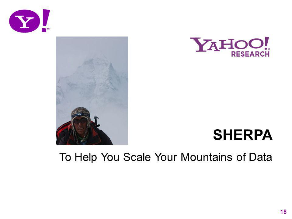 SHERPA To Help You Scale Your Mountains of Data