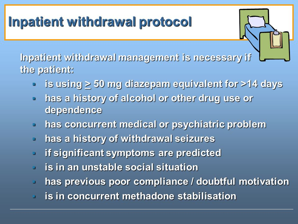 Inpatient withdrawal protocol