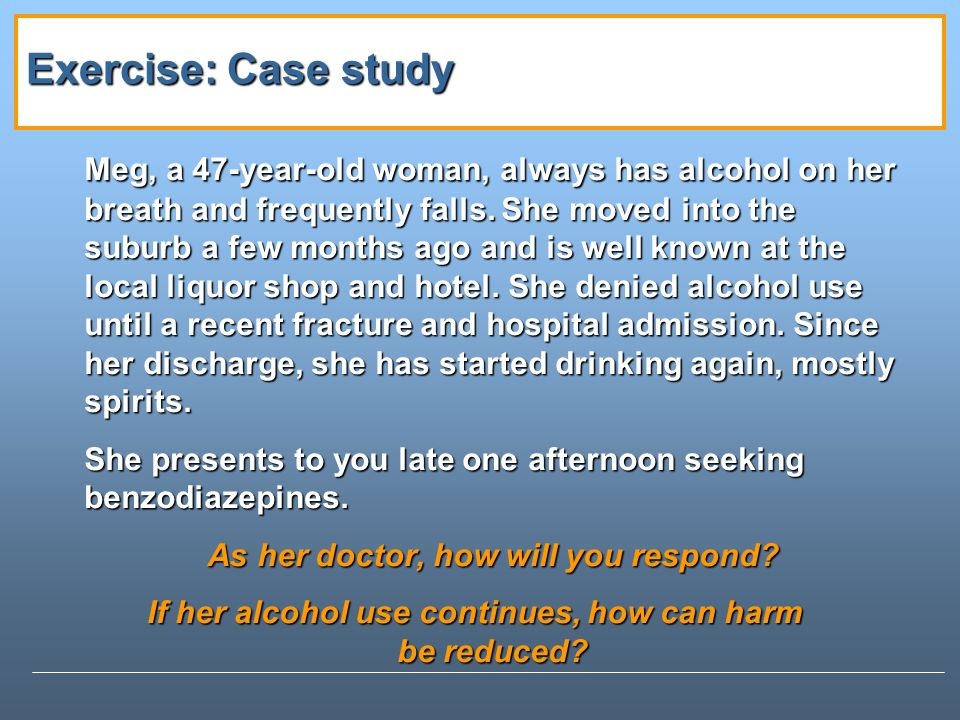 Exercise: Case study
