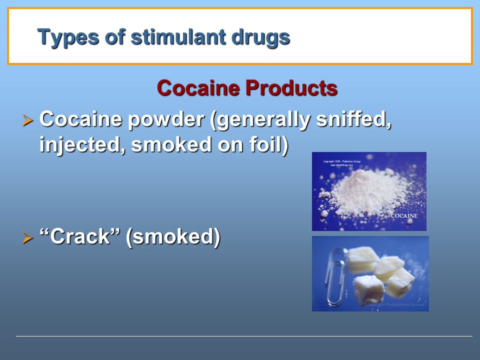 Types of stimulant drugs
