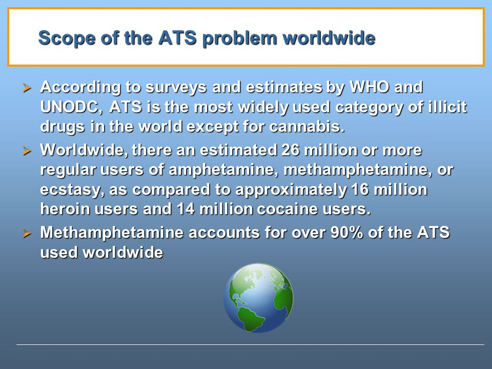 Scope of the ATS problem worldwide