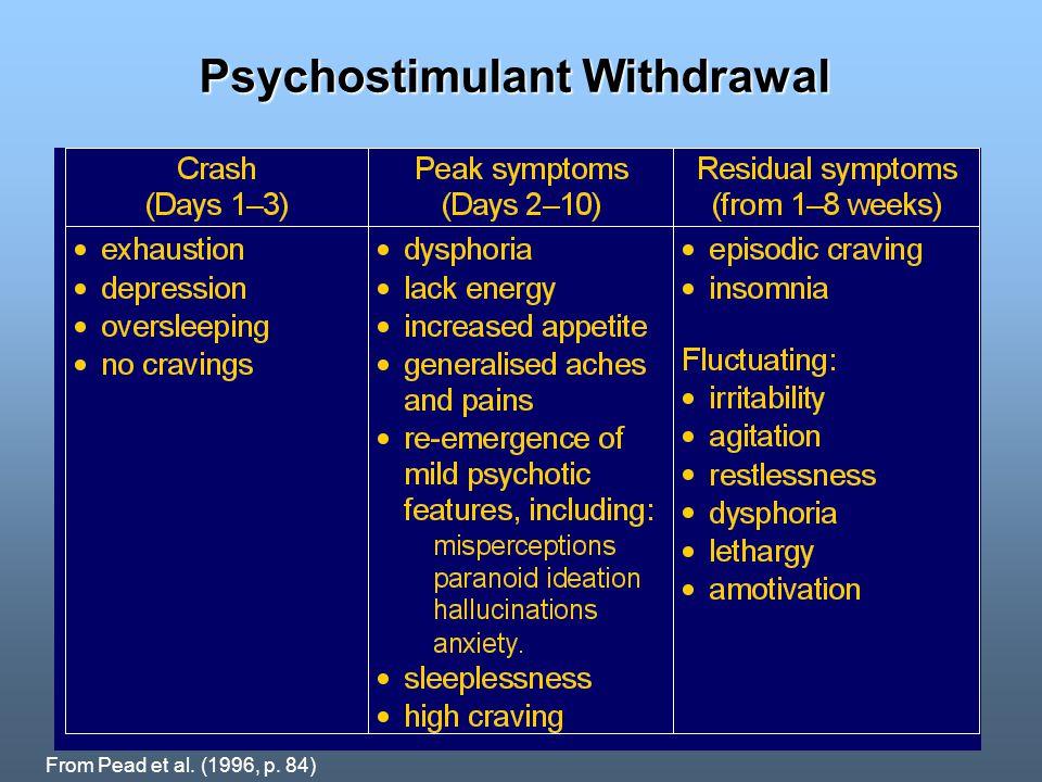 Psychostimulant Withdrawal