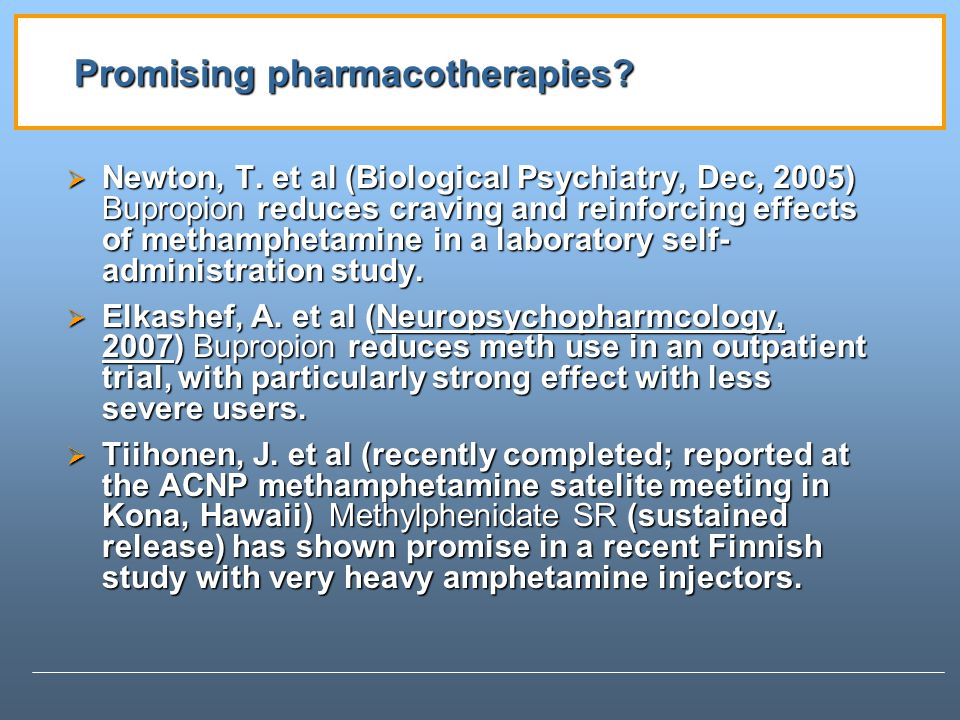 Promising pharmacotherapies