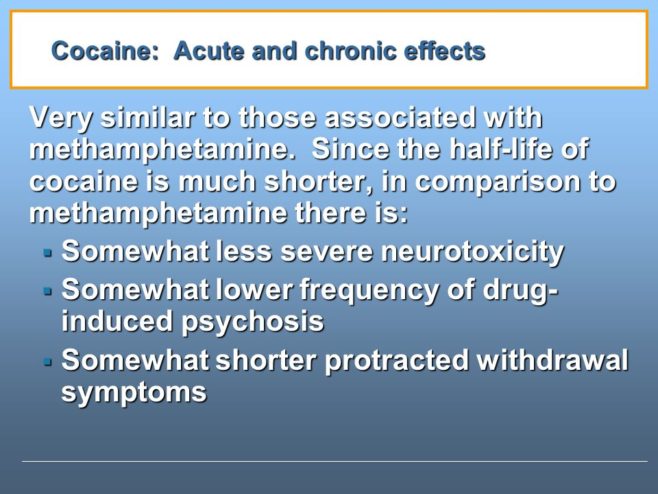 Cocaine: Acute and chronic effects
