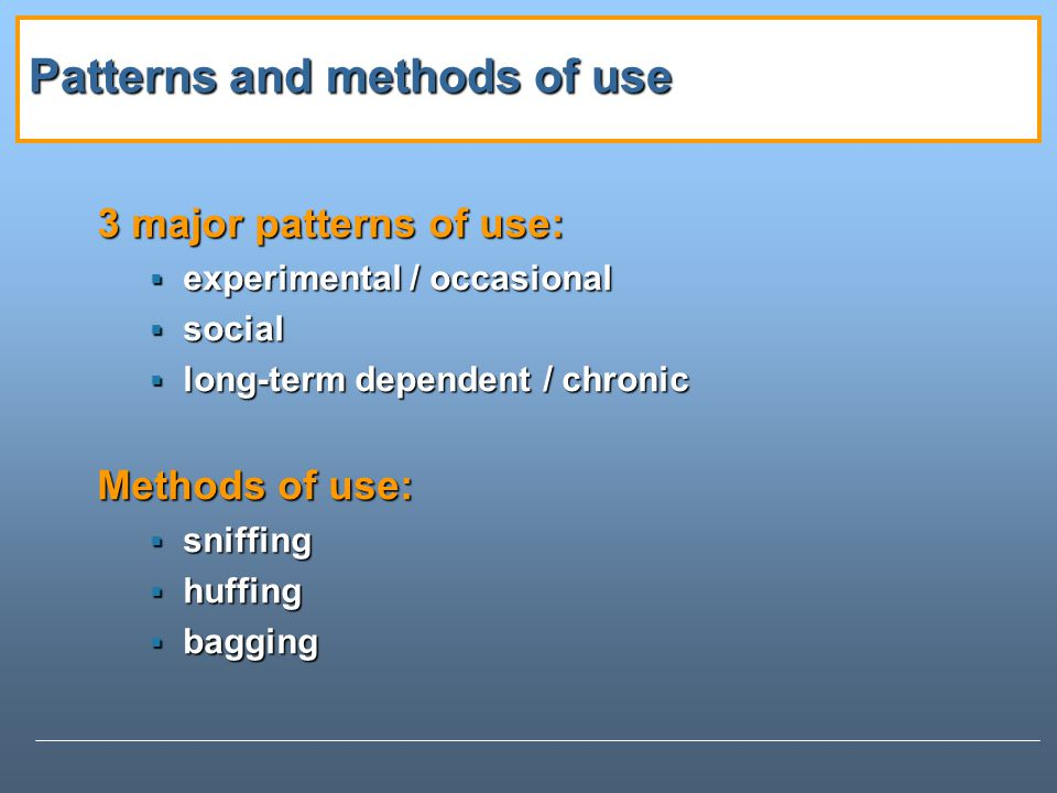 Patterns and methods of use