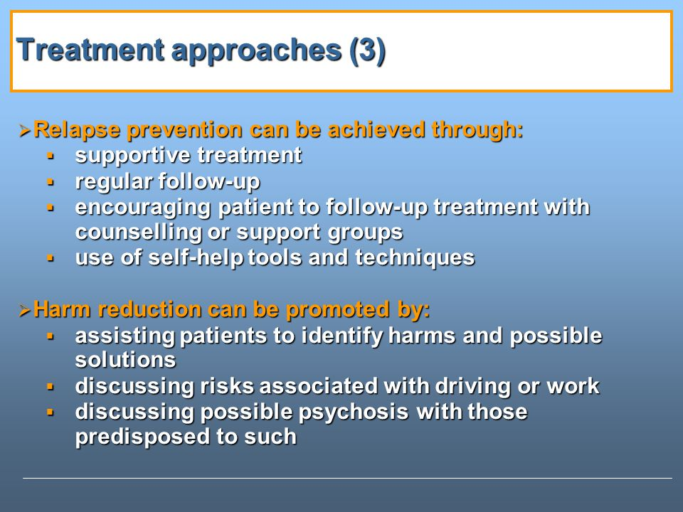 Treatment approaches (3)