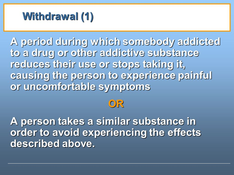 Withdrawal (1)