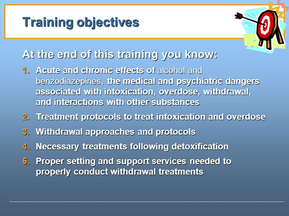 Training objectives At the end of this training you know: