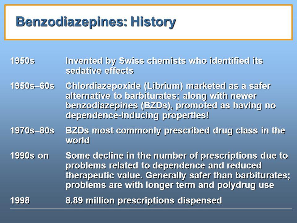 Benzodiazepines: History