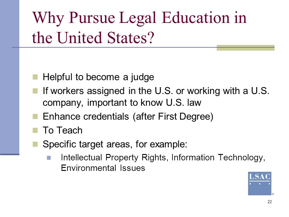 Why Pursue Legal Education in the United States