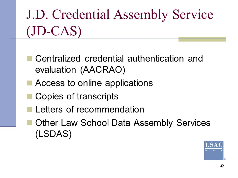J.D. Credential Assembly Service (JD-CAS)