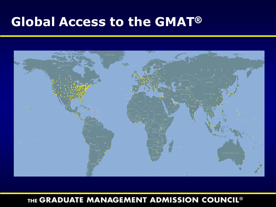 Global Access to the GMAT®