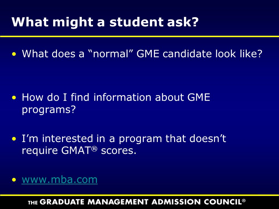 What might a student ask