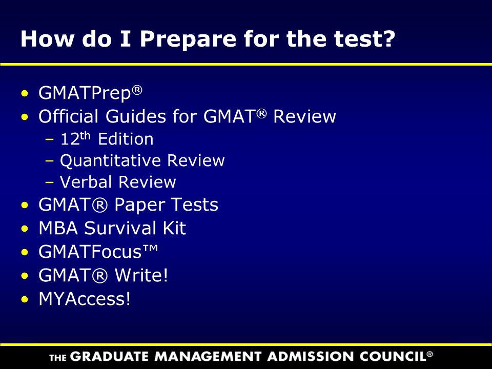 How do I Prepare for the test