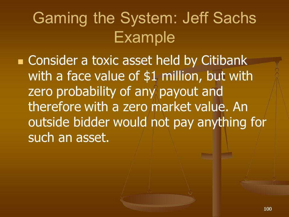 Gaming the System: Jeff Sachs Example