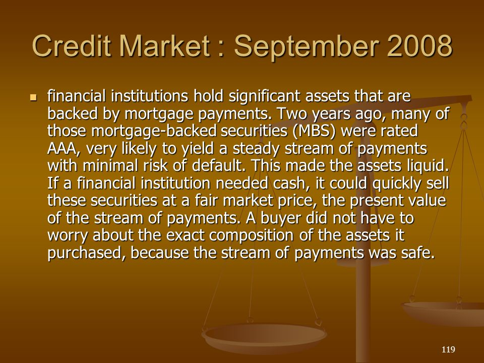 Credit Market : September 2008