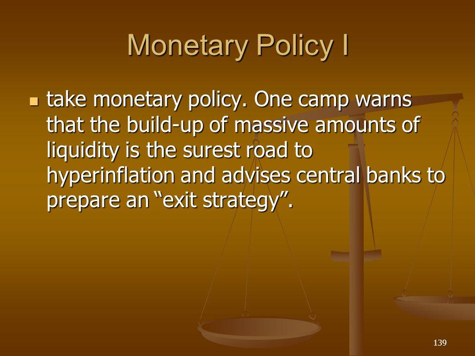 Monetary Policy I
