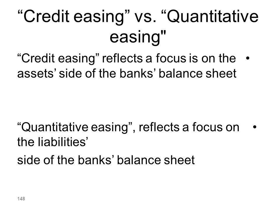 Credit easing vs. Quantitative easing