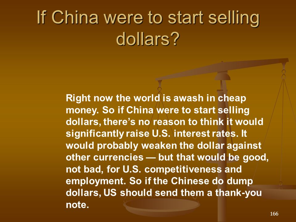 If China were to start selling dollars