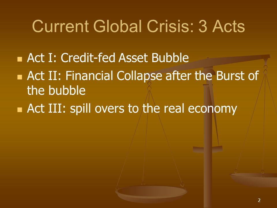 Current Global Crisis: 3 Acts