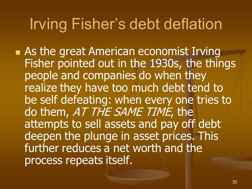 Irving Fisher's debt deflation