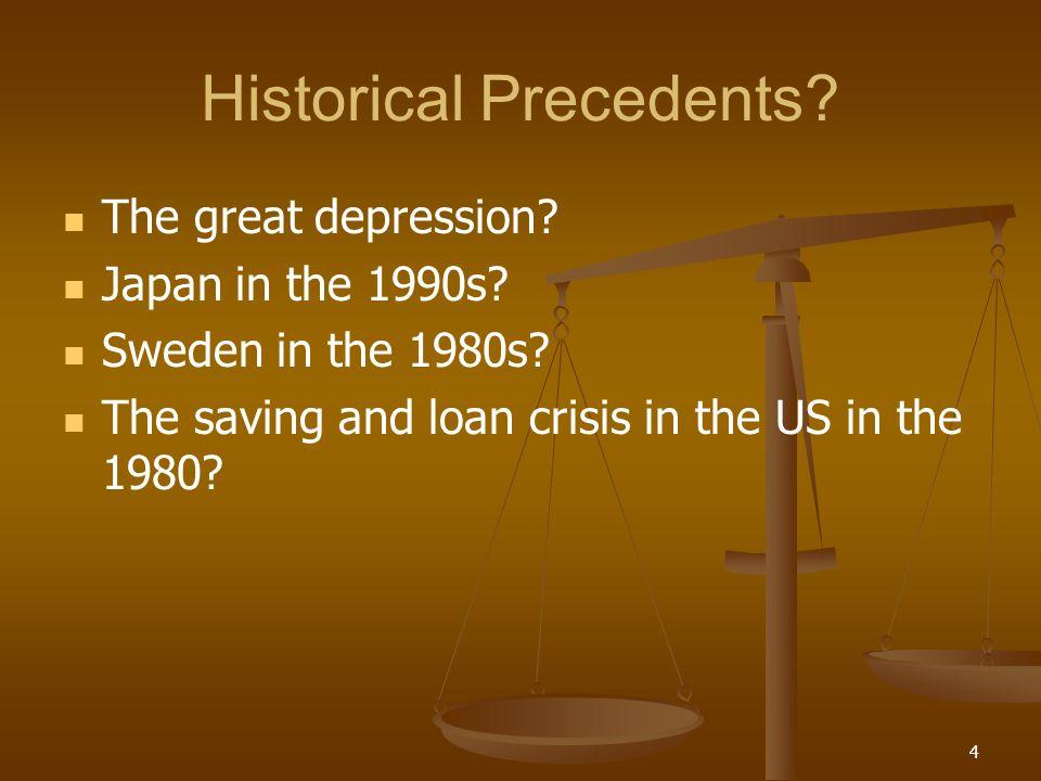 Historical Precedents