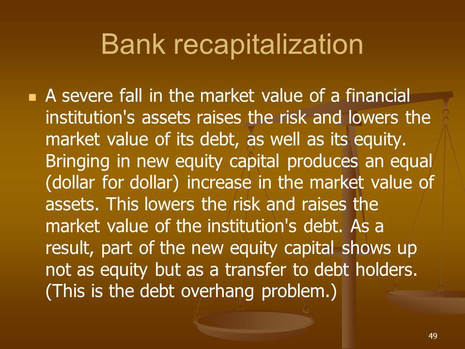 Bank recapitalization