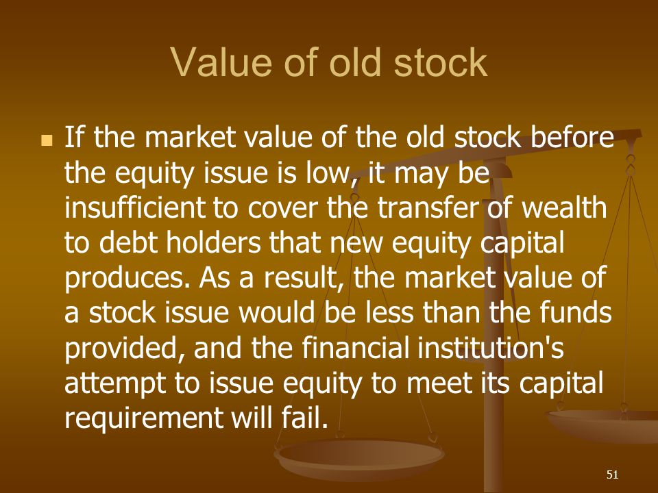 Value of old stock