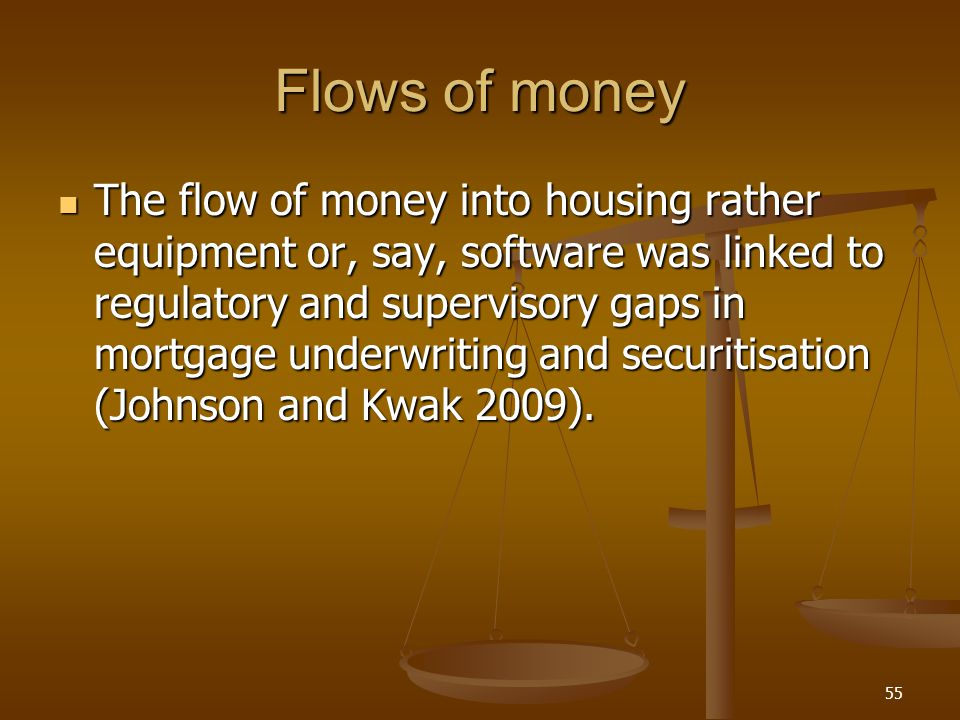 Flows of money