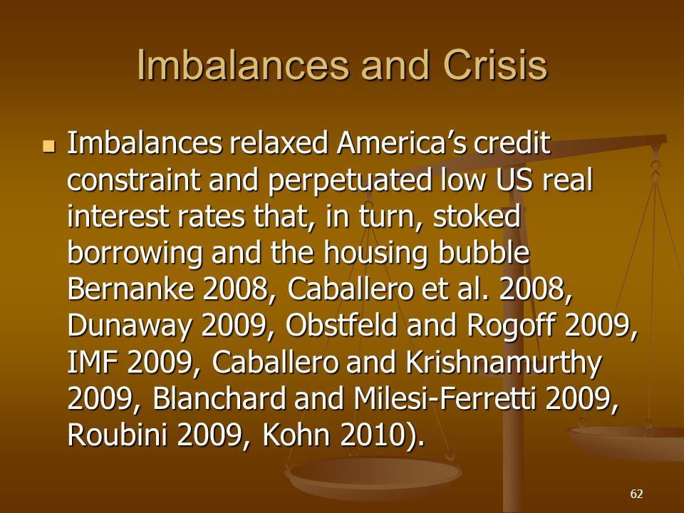 Imbalances and Crisis