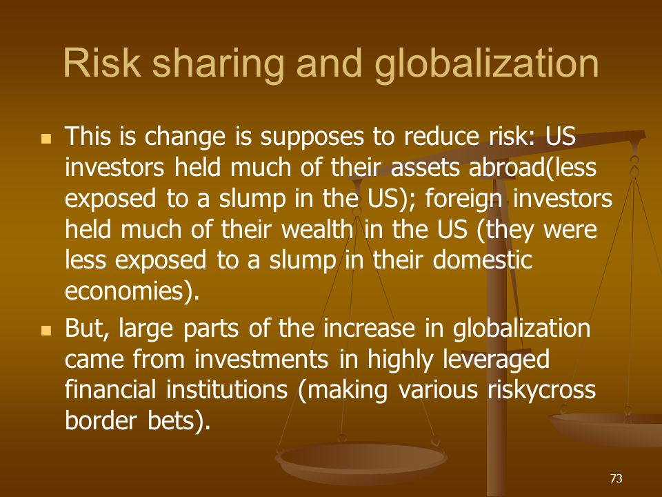 Risk sharing and globalization