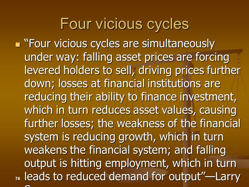 Four vicious cycles