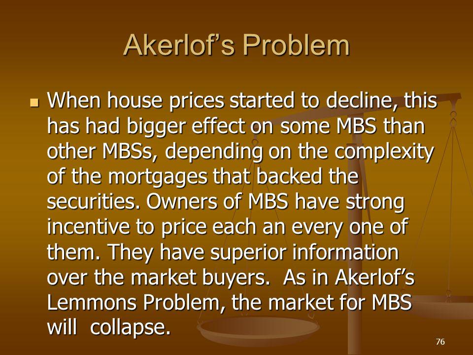 Akerlof's Problem
