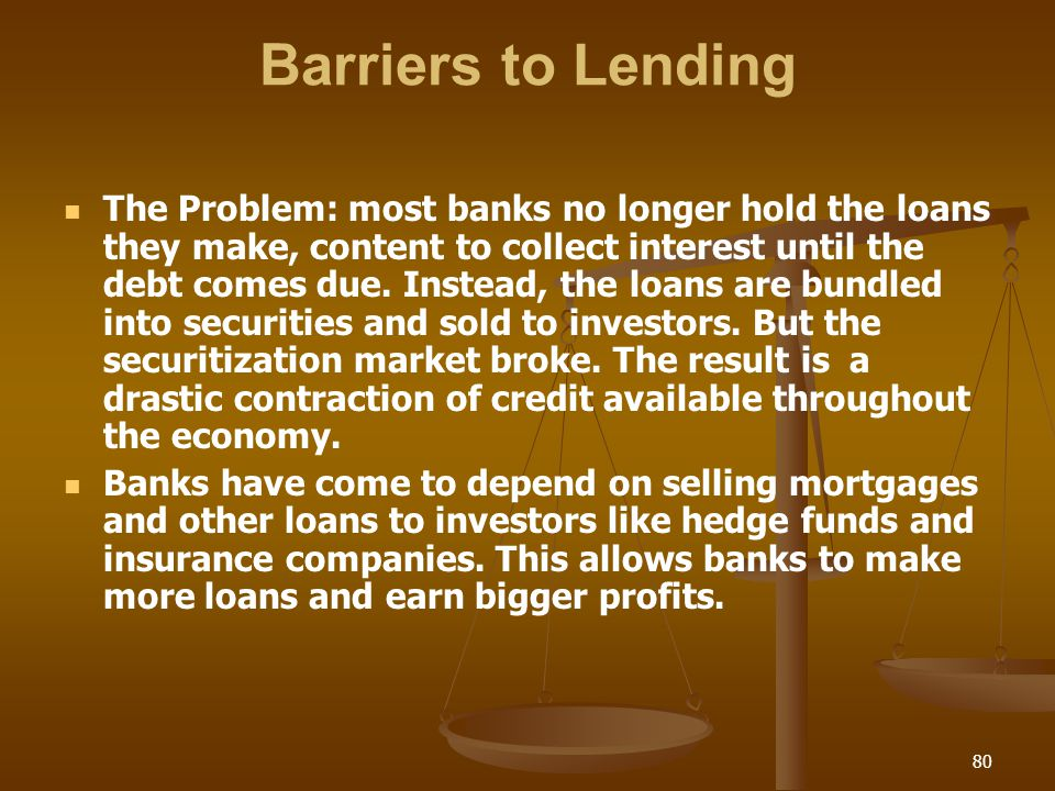 Barriers to Lending