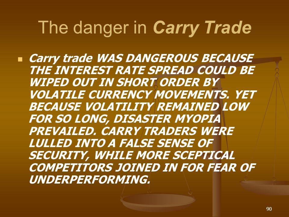 The danger in Carry Trade