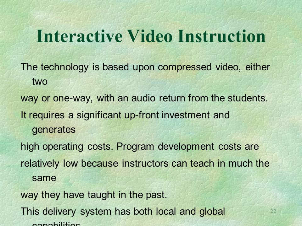 Interactive Video Instruction