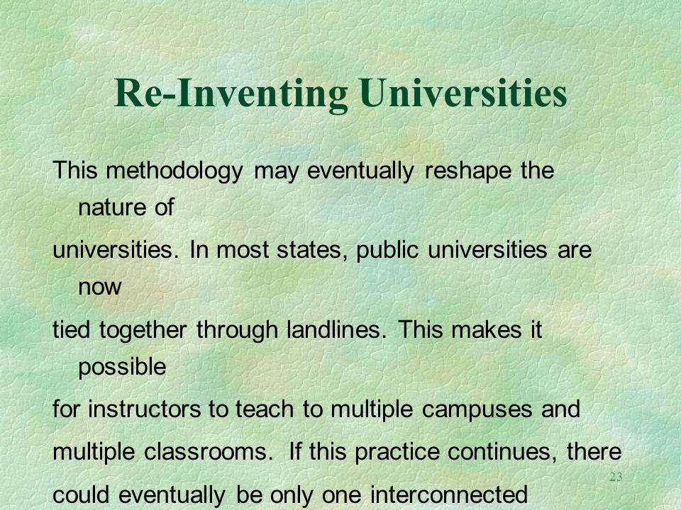 Re-Inventing Universities