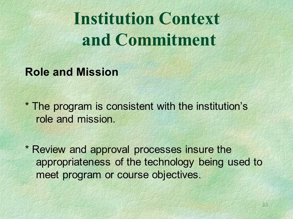 Institution Context and Commitment